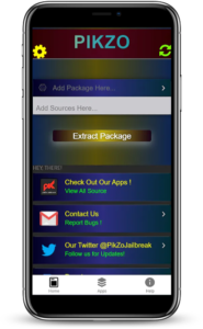 Pikzo repo extractor for iOS 11 to iOS 13.3 Pikzo was released by famous jailbreak developer @Danielgroves, He will impliment this as a alternative jailbreak solution for iOS 11 in 2017,
